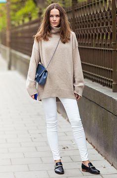 camel & white. Caroline in Stockholm.