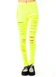 Yellow High Waisted Jeans - Xtellar Jeans