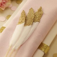 Glitter feathers