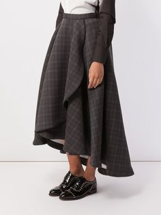Anrealage checked full skirt