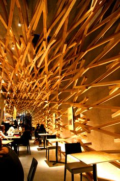 Starbucks Dazaifu Tenmanguu Omotesando,Fukuoka,Japan by Kengo Kuma. Can't believe it's a Starbucks.
