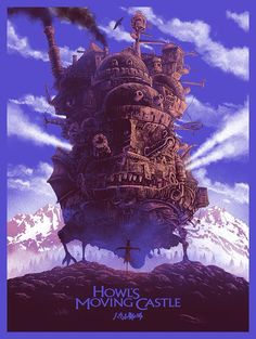 Superb design by Marko Manev of Studio Ghibli Anime masterpiece. Limited edition print of 200 copies Studio Ghibli Poster, Studio Ghibli Art, All Studio Ghibli Movies, Hayao Miyazaki, Animated Movie Posters, Japanese Animated Movies, Superhero Poster, Howls Moving Castle, Alternative Movie Posters