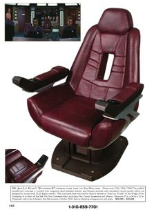 Picard's chair from Star Trek; from the Christie's Auction.
