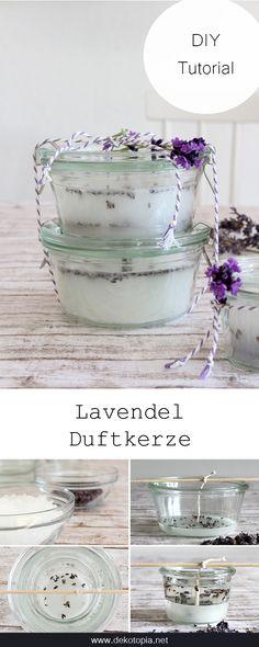 Duftkerze mit Lavendel selber machen: eine hübsche Geschenkidee!