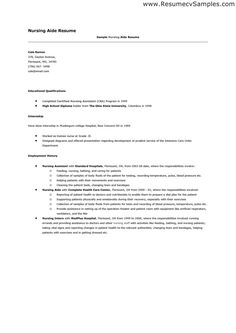 Sample Resume For Cna Position Doctors Office Nurse PDF