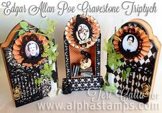 Alpha Stamps/Terri Calia - Poe Tombstones