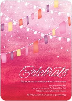 Summer Solstice - Party Invitations - Magnolia Press - Begonia - Pink | Celebrate retirement with TinyPrints.com