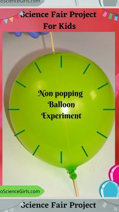 Insert a Skewer through a Balloon without popping it. Explore how density works against popping the balloon. Density Science Experiment for kids. #scienceexperiment #balloonskewerexperiment Science Fair Projects, Science Experiments Kids, Projects For Kids, Surface Tension, 9 Year Olds, The Balloon, Science Activities, Skewers, Balloons