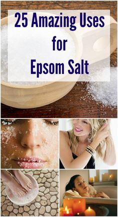 Studies have shown that magnesium and sulfate are both readily absorbed through the skin, making Epsom salt baths an easy and ideal way to enjoy the amazing health benefits. Here are 25 Amazing Uses for Epsom Salt - Selfcarers