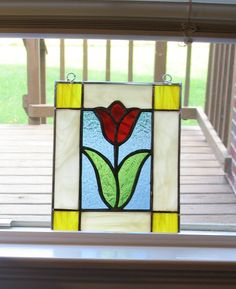Oct flower stained glass - The Dale Maley Family Web Site