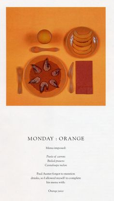 THE CHROMATIC DIET | Sophie Calle