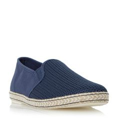 Dune Fencing Mesh Vamp Espadrille Shoes, Navy