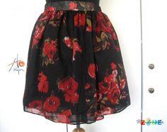 Fusta red roses Handmade Skirts, Red Roses, Fashion, Moda, Fashion Styles, Fashion Illustrations