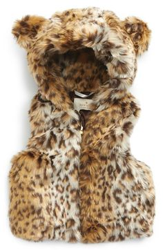 kate spade new york katespade new york hooded fauxfur vest (Baby Girls) available at #Nordstrom