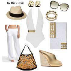 Summer Outfit. Beach Wear.
