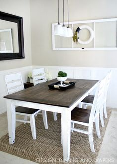 exactly what i was picturing for our table diy farmhouse table makeover