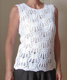 Ravelry: Project Gallery for Frost Flowers Top pattern by Lankakomero