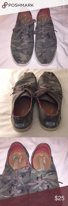 Camo men Toms shoes size 12. Good used condition ,See all photos Toms Shoes