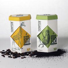 Thompson #Tea & #Coffee #packaging by Ross Phelan, via Behance PD