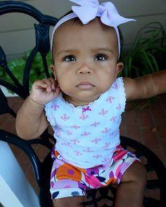 Cute Little Girls, Cute Kids, Cute Babies, Baby Kids, Beautiful Black Babies, Baby Girl Hairstyles, God's Plan, Human Babies, Mixed Babies