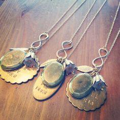 custom scallop infinity necklace by makepienotwar on Etsy, $65.00