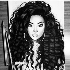 Pin av promyse streater på drawings i 2019 black women art, Black Girl Art, Black Women Art, Art Girl, Black Girls, Big Black, African American Art, African Art, Natural Hair Art, Black Artwork