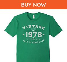 Mens Made In 1978 39th Birthday 39 Years Old Gift T-Shirt XL Kelly Green - Birthday shirts (*Amazon Partner-Link)