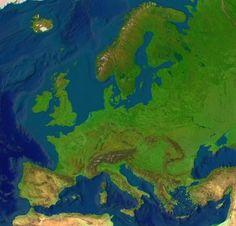 Resultado de imagen de blinde kaart europa gebergten
