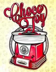 Chocovintage by ChocoToy , via Behance