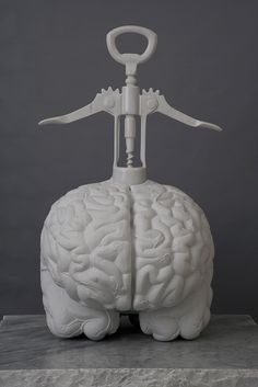 jan fabre carves the human brain from carrara marble