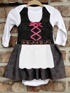 3 Month baby dirndl LONG SLEEVE by adasaccessories4me on Etsy