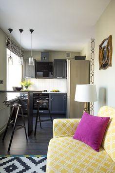 Очень маленькая двухкомнатная квартира в Москве (29 кв. м) | Пуфик - блог о дизайне интерьера