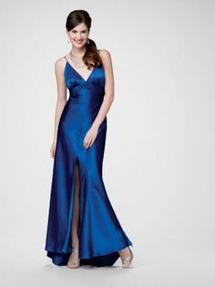 Sheath/Column Spaghetti Straps Elastic Woven Satin Ankle-length Draped Formal Evening Dresses