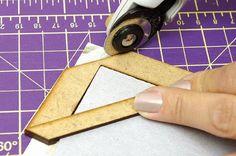 Artesanato em EVA moldes e passo a passo: Como criar sua própria ferramenta fio de cabelo para cartonagem