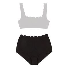 High waisted bikini bottoms by Marysia