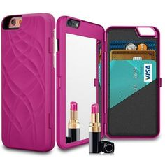 Wallet + Mirror iPhone Case (Rose) - Cinderbloq Cases & Accessories
