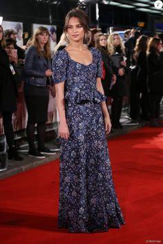 """Alicia Vikander - Première du film """"Une vie entre deux océans"""" au Curzon Mayfair à Londres. Le 19 octobre 2016"""