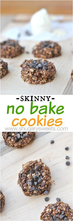 Skinny No Bake Cookies - Shugary Sweets