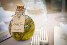 Olive oil wedding favors timecut photography