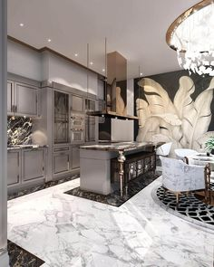 Inspiring Kitchen Floor Plans You Will Love / Design / Amazing …. We are swooning over this gorgeous kitchen! Let us know 👇🏻 ⠀⠀⠀⠀⠀ ⠀⠀⠀⠀⠀⠀⠀⠀⠀ ⠀⠀⠀⠀⠀ ⠀⠀⠀⠀ ⠀ ⠀ 📷: House design (Visited 4 times, 1 visits today) Home Design, Luxury Kitchen Design, Luxury Kitchens, Küchen Design, Interior Design Kitchen, Design Ideas, Design Basics, Modern Interior, Design Trends