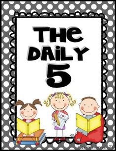 """Doin' the """"Daily 5""""? This BRIGHT DOTS version includes: *Read to Self *Read to Someone *Listen to Reading *Word Work *Writing  Hope you love it! :)"""