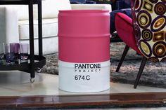 Barril Decorativo Pantone - #rebecaguerra #pantone #lata #decoração #barril #pantoneproject