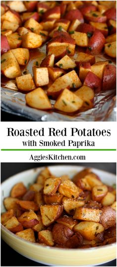 Roasted Red Potatoes with Smoked Paprika make a simple and healthy side dish to add to any meal. One of my family's favorites!
