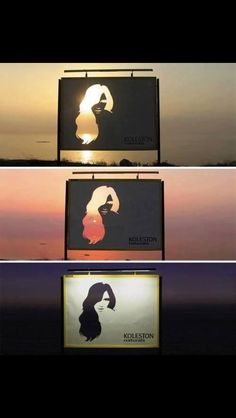 Interesting and eye-catching billboard, great for any time of day, unique