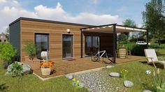 Casaplaner Modulhaus Schweiz Container Shop, Container Homes, Bungalow, Home Studio, Pool Designs, Glamping, Minimalist, Patio, Outdoor Decor