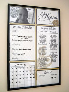 Responsibility Chart dry erase chore chart personalized. $10.00, via Etsy.
