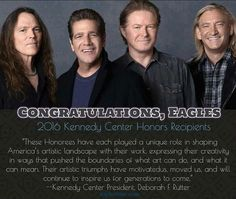 Eagles to be honored at Kennedy Center Dec. Eagles Music, Eagles Lyrics, Eagles Band, Country Bands, Country Music, Great Bands, Cool Bands, Life's Been Good, History Of The Eagles
