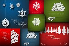 7 Christmas Card Templates by Orson on Creative Market