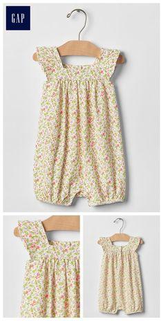 Floral flutter shortie one-piece Baby GAP $19.95
