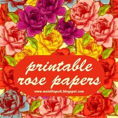 Free digital rose paradise scrapbooking and fun paper – ausdruckbares Geschenkpapier – freebie | MeinLilaPark – digital freebies